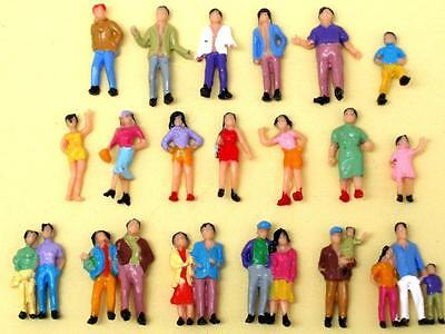 Lot of 100pcs 19styles NEW painted 1/87 scale HO figures people passengers