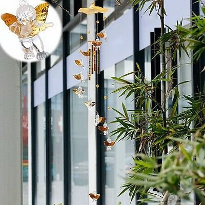 Amazing 4 Tubes Bell Wind Chimes Home Garden Yard Decor Outdoor Living Hanging