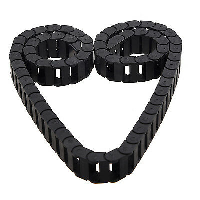W6 10 x 20mm 1M Open On Both Side Plastic Towline Cable Drag Chain