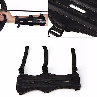 Outdoor Hunting 3 Strap Shooting Target Archery Arm Guard Safety Protection new