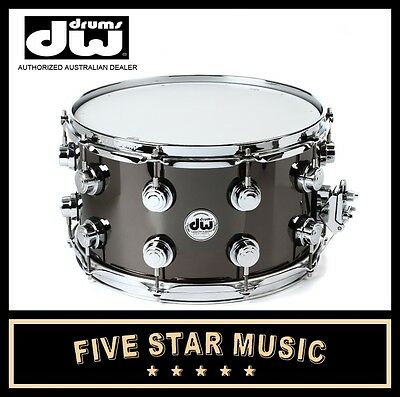 """DW COLLECTOR'S SERIES 8""""x14"""" 14"""" SNARE BLACK NICKEL OVER BRASS DRVB0814SVC NEW"""