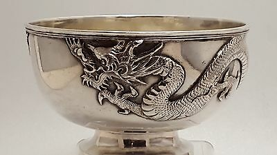Late19Th Century Chinese Export Silver Bowl Maker Hung Chong Of Shanghai c 1890
