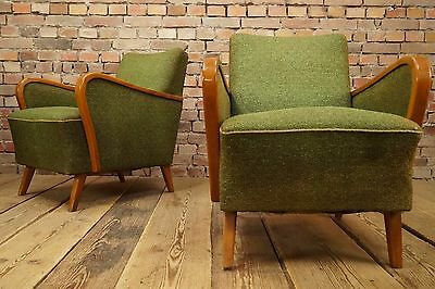 20s Vintage 2x ART DECO CHAIRS ARMCHAIRS Bauhaus Era ANTIQUE ARMCHAIR CHAIR 30s • £245.00