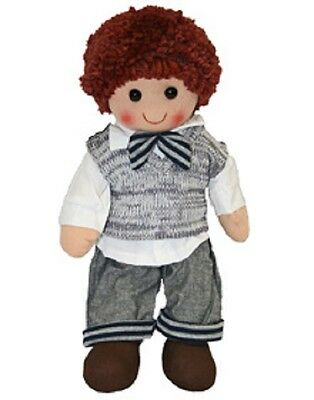 BN Childs Toy Rag doll woollen hair soft body & outfit ragdoll dolly boy Charlie