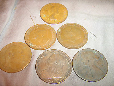 British penny lot 6 different types