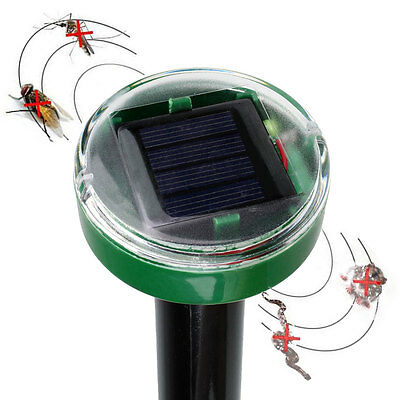 Solar Power Ultrasonic Mosquito Mole Snake Mouse Pest Killer Repeller Control AA