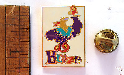 Original Alanta Paralympic Mascot Pin - Blaze With Flame-Traders Rectangle Torch