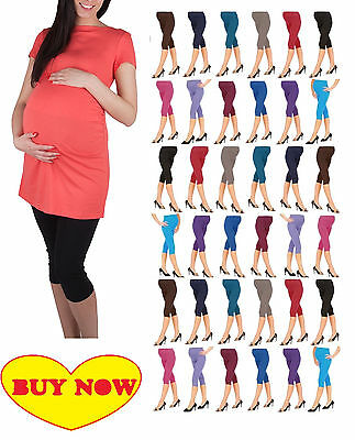 NEW Cropped Very Comfortable Maternity Leggings 3/4 Length Preganancy HQ mtr3/4