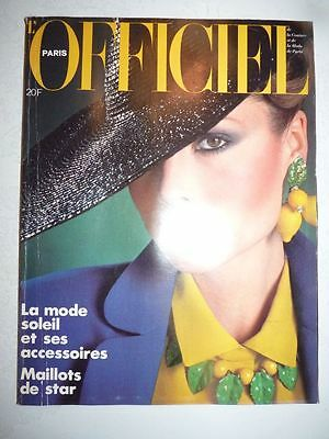 Magazine revue mode L'OFFICIEL #651 avril 1979 maillots de star