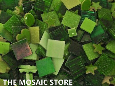 Mixed Green Tile Colour Packs - Mosaic Art & Craft Supplies