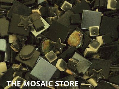 Mixed Black Tile Colour Packs - Mosaic Art & Craft Supplies