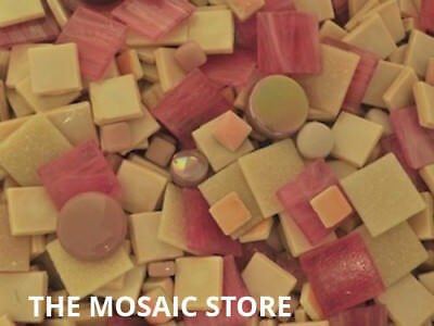 Mixed Pink Tile Colour Packs - Mosaic Art Craft Supplies