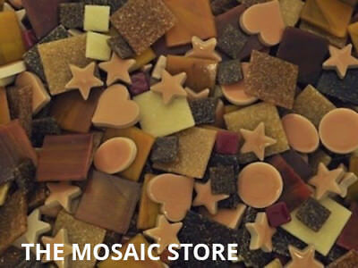 Mixed Brown Tile Colour Packs - Mosaic Art Craft Supplies