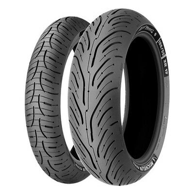 Michelin Motorcycle Tyres Pilot Road 4 120/70/ZR17 & 180/55/ZR17 Pair