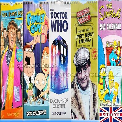 NEW 2017 Slim Wall Calendar Family Guy Simpsons Doctor Who Mrs Brown Only Fools