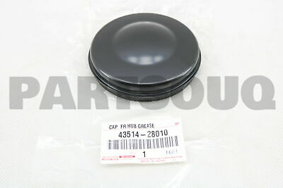 4351428010 Genuine Toyota CAP, FRONT AXLE HUB GREASE, RH/LH 43514-28010