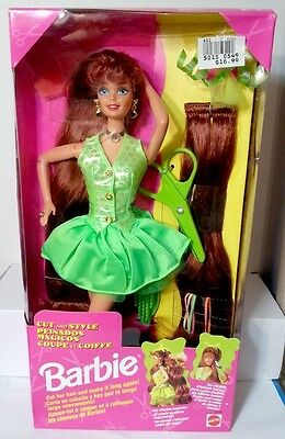 MAttel 1994 Cut and Style Long Red Hair Midge Barbie doll New Green Rare