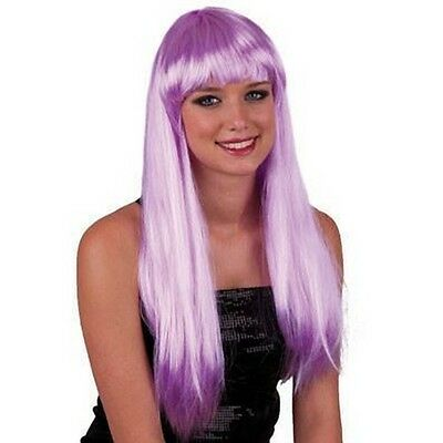 Parrucca Pony Lilla Lunga Donna Turchese Carnevale Halloween Cosplay