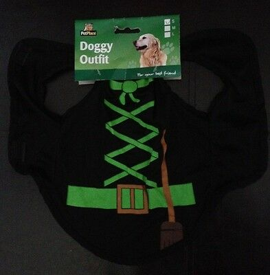 Halloween Witch Outfit for Dogs Costume Small Medium Large NEW BNWT