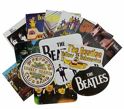 14 x The Beatles Albums Logo Vinyl Stickers New Official Band Merchandise
