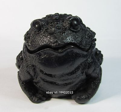 """2.9""""H   Toad Trinket box   Resin for  Decor and Small piece keeping in the Box"""