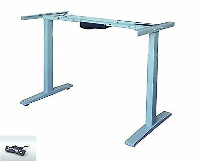 Electric Adjustable Height Standing /Sit-Stand Desk Frame Silver