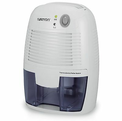 Ivation DehumMini Powerful Small-Size Thermo-Electric Dehumidifier - Quietly ...