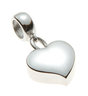 Cremation Ashes Bracelet Charm Mayfair Heart 925 Sterling Silver