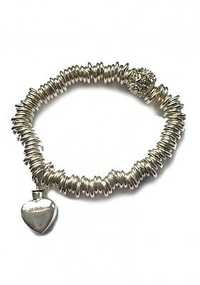 Ashes Charm Mayfair Bracelet Sweetie Heart 925 Sterling Silver - UU610048A