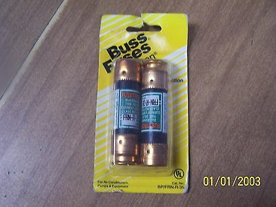 Bussman 35 Amp BP/FRN-R-35 Cartridge Fuse--2 Pack