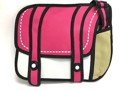 Unique Pop-Art Japanese Anime Two-Dimensional Backpack - Pink & White
