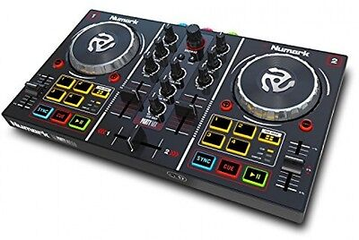 Numark Party Mix   Starter DJ Controller With Built-In Sound Card, Light Show