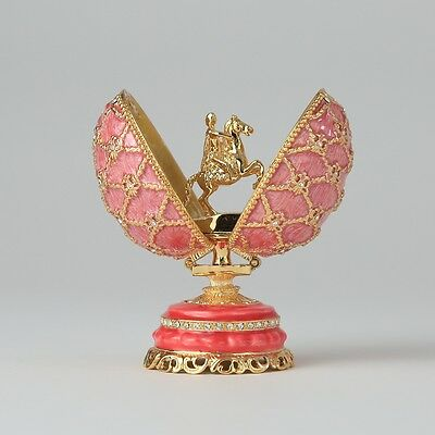 Faberge Egg trinket box with the Bronze Horseman