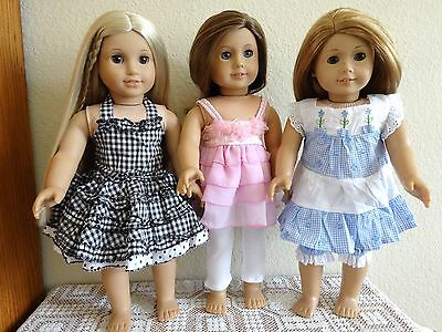 """NEW-DOLL CLOTHES: Dresses/Leggings Sets fit 18"""" Doll such as AG Dolls-Lot #269"""