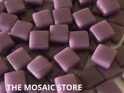 Lilac Gloss Glass Tiles 1cm - Mosaic Art & Craft Supplies