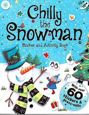 Chilly The Snowman Christmas Gift Sticker And Activity Book by igloobooks