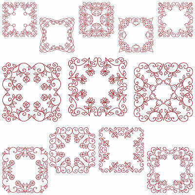 QUILTBLOCKS 2 * Machine Embroidery Patterns  * 12 Designs 2 Sizes