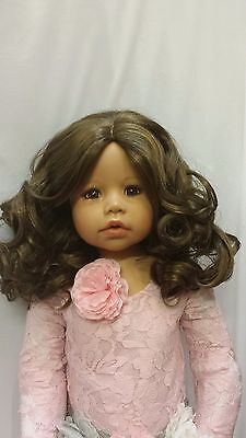 """NWT Monique Charlene Light Brown Doll Wig 17-18"""" fits Masterpiece Doll(WIG ONLY)"""