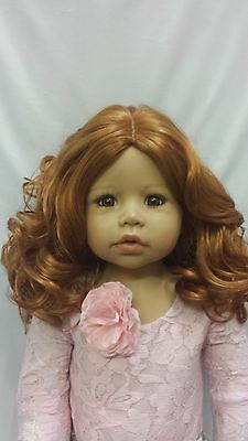 """WIG ONLY NWT Monique Bernadette Ginger Br Doll Wig 17-18/"""" fits Masterpiece Doll"""