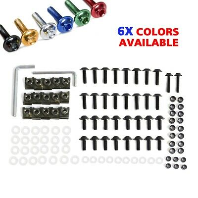 Anodized Fairing Bolt Bolts Kit Fastener Clips Screw Fit Yamaha YZF R1 2002-2003