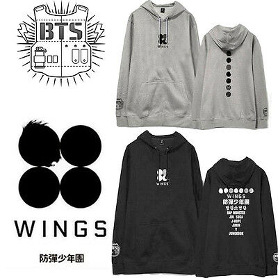 Kpop BTS Jimin Wings Cap Hoodie Sweater Bangtan Boys You Never Walk Alone Coat