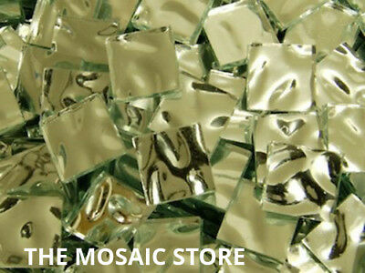Silver Wave Square Mirror Tiles 2 cm - Mosaic Tiles Supplies Art Craft