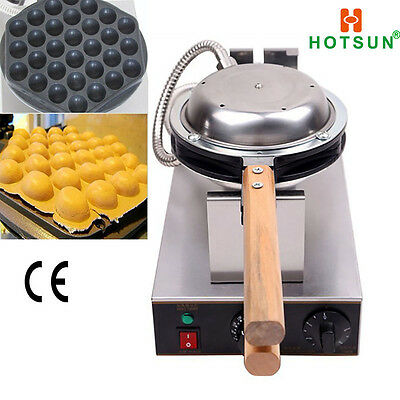 Commercial Non-stick 110V 220V Electric Eggettes Egg Bubble Waffle Maker Iron