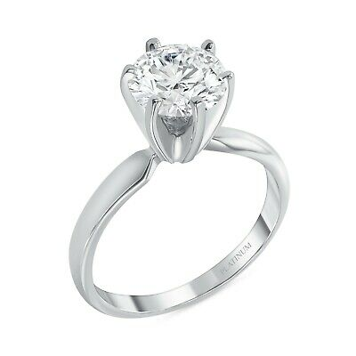 1 Ct Round Cut Solitaire Engagement Wedding Promise Ring Solid 950 Platinum
