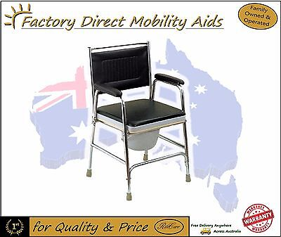Discreet Bedside Commode Chair Padded cover Great Buy!