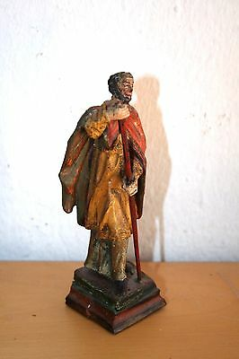 Ancient wooden statue of a saint  about 1800
