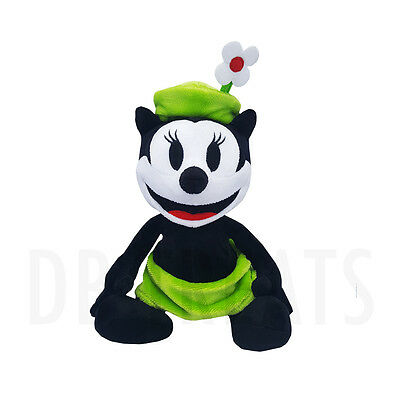 """Disney Parks Oswald The Lucky Rabbit Ortensia the Cat 9"""" Plush NEW FREE SHIPPING"""