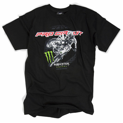 Monster Energy T-shirt Tee Whipper Pro Circuit Gr. M Cross MX Shirt KXF KLX KX