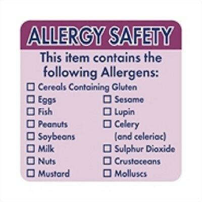 Allergen Labels (Roll 500)