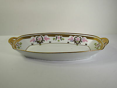 Pickard Hand Painted Porcelain 1912-1918 Mark - Russian Flowers - Oval Tray